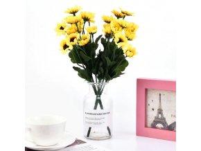 Dekorace - slunečnice - kytky - umělé květiny - umělé slunečnice do vázy 15 hlav