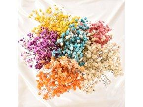 Dekorace - sušené kytky- kytky - umělé květiny - umělé sušené květiny do vázy - svatební dekorace