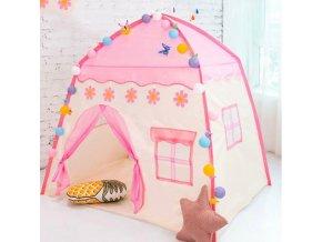 děti - hračky pro děti - dětský stan - růžový herní stan pro holčičky - hrad - vánoční dárek