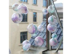 Vánoce - vánoční dekorace - vánoční ozdoby - plastová koule s barevným peřím v balení 3 ks - dekorace - různé velikosti