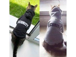 Oblečení pro kočky - kočka - mikiny - kočičí mikina s nápisem secuirty