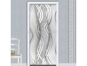 Dveře - interiérové dveře - tapety - samolepící tapety - samolepící tapeta na dveře s abstraktním vzorem - výprodej skladu