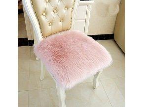 Židle - jídelní židle - podsedáky - podsedáky na židli - krásný chlupatý podsedák na židli - výprodej skladu