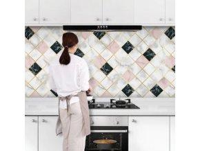 Kuchyně - tapety - tapety na zeď - samolepící tapeta - omyvatelné tapety - vodotěsná tapeta s hliníkovým povrchem vhodná do kuchyně