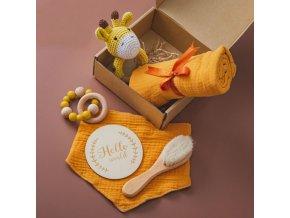 Miminko - dárek pro miminko - dudlík - krásně ručně vyrobená sada pro miminko - háčkované hračky - chrastítko