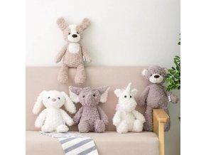 Hračky - plyšáci - medvídek - hračky pro miminka - krásný měkký plyšák  více druhů zvířátek - vánoční dárek