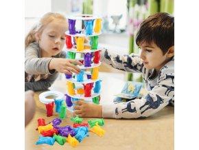 Hračky - stolní hry - zábava - zábavná stolní hra pro celou rodinu tučnáčí  věž -  dárek k vánocům