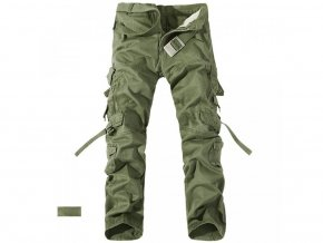 Pánské zelené kalhoty kapsáče
