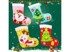 Hry - vánoce - vánoční dekorace - vánoční tvoření - dětská vánoční zábava tvoření vánoční punčochy - punčochy