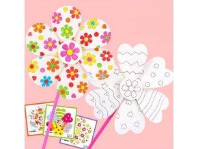 Hračky - dětské tvoření - větrný mlýn - malování - dětský větrný mlýn na dokreslení - vánoční dárek