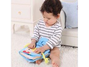 Hačky - hračky pro nejmenší - knihy - kojenecká naučná látková kniha - vánoční dárek