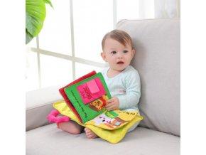 Hračky - hračky pro nejmenší - knihy - vzdělávací hračka pro nejmenší látková kniha - dětská kniha