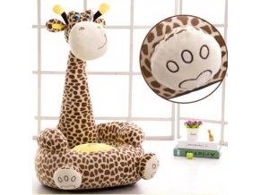 Hračky - plyšové hračky - dětské křeslo - dětské křeslo ve tvaru žirafy ve dvou tvarech - vánoční dárek - dárek pro děti