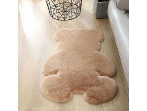 Dětský pokoj - koberec - dětský koberec - měkký a příjemný koberec do dětského pokoje ve tvaru medvídka - vánoční dárek
