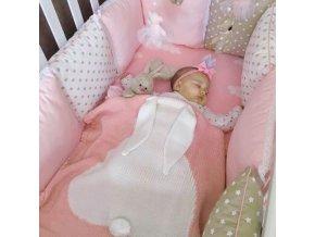 Deky - deka pro novorozence s králíčkem - zavinovačka - výprodej skladu - králík