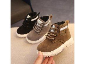 Dětské oblečení - boty - dětské podzimní boty zdobené gumou - dětské boty - zimní boty - chlapecké boty - výprodej skladu