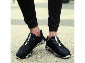 Pánské černé sportovní boty