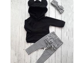 Oblečení - dětské oblečení - set kostkovaného oblečení pro holčičku - dárek pro děti - mikiny - tepláky