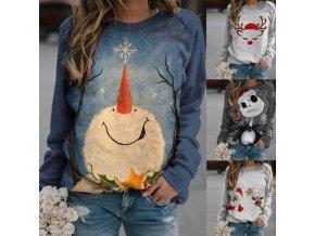 Dámské oblečení - mikiny - dámská mikina s vánočními potisky - dámské mikiny - nadměrné velikosti - vánoce - zima