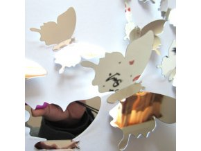 Motýli - sada lepících zrcadlových motýlů  na zeď - dekorace - dekorace do bytu - vánoční dárek