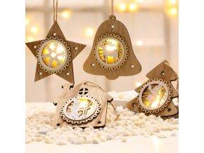 Vánoce - dekorace - vánoční závěsná světelná dekorace - vánoční dekorace - vánoční ozdoby - výprodej skladu