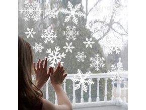 Vánoce - dekorace - vánoční dekorační vločky na okna - sněhová vločka - samolepky