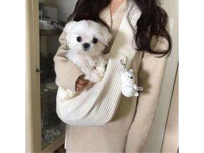 pes - kočka  - taška pro psa - cestovní kabelka přes rameno pro psa nebo kočku - chovatelské potřeby - vánoční dárek