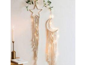 Dekorace  - vánoční dekorace - závěsná dekorace v boho stylu - dekorace na zeď - vánoce