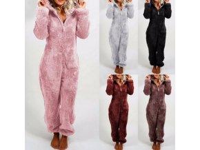 dámské oblečení - zimní zateplený overal na doma - overal na spaní - overal - dámské pyžamo - vánočná dárek