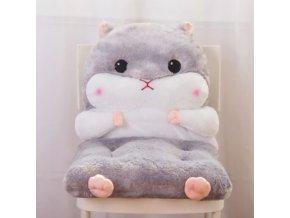 Polštáře - pohodlný polštář křečka na židli - křeček - vánoční dárek