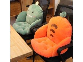 Polštáře - pohodlný polštář na židli v různých tvarech - dekorační polštář - vánoční dárek - výprodej skladu