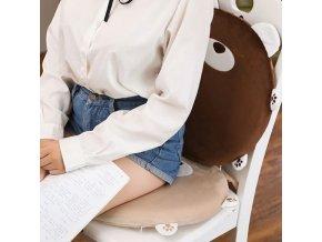Polštáře - roztomilý polštář ve tvaru zvířat na židli - dárky pro ženu - vánoční dárek