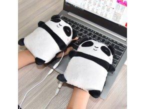 Rukavice - USB vyhřívaný ruční ohřívač panda - zima - vánoční dárek - výprodej skladu