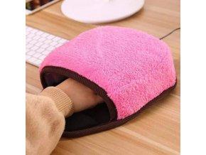 Rukavice - USB zateplená podložka pod myš - zima - podložka pod myš - vánoční dárek