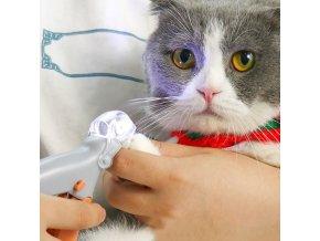 Pes - kočka - profesionální nůžky pro drápky s LED světlem - chovatelské potřeby - výprodej skladu