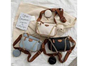 Kabelky - módní crossbody kabelka zdobená řetízkem - dámské kabelky - crossbody - výprodej skladu