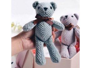 Miminko - plyšáci - háčkovaný medvídek pro děti - medvídek - hračky - hračky pro kluky - vánoční dárek