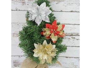 Vánoce - vánoční dekorace - vánoční třpytivá hvězda na stromeček - vánoční ozdoby - vánoční hvězda