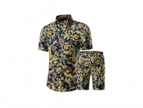 Pánská souprava košile a kraťasy