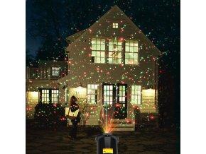 Vánoce - vánoční dekorace - vánoční projektové světlo s pohybujícími hvězdy - vánoční osvětlení - led osvětlení