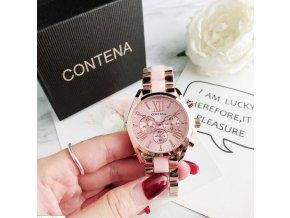 Hodinky - krásné módní hodinky s barevným proužkem  - dámské hodinky - dárek pro ženu