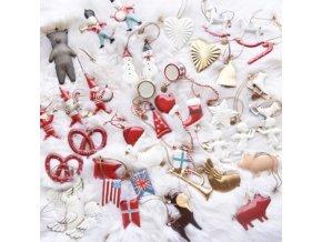 Vánoce - 3d retro vánoční ozdoby na stromeček - vánoční ozdoby - vánoční dekorace