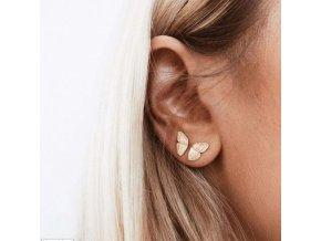 Šperky - náušnice do dvou dírek v uchu motýl - náušnice - motýli