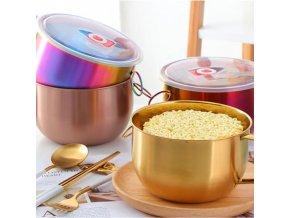 Kuchyně - nerezová miska v metalických barvách - vaření - miska - výprodej skladu