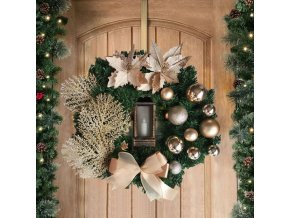 Vánoce - luxusní vánoční věnec na dveře se světýlkem - vánoční dekorace - vánoční věnec na dveře