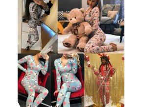 Oblečení - dámský pohodlný overal na doma nebo na spaní - overal na spaní - dámské pyžamo