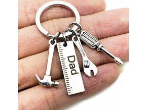 Přívěšek na klíče - přívěšek pro tátu s nářadím - dárek pro muže - výprodej skladu