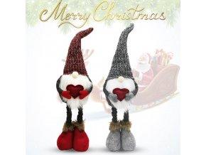 Vánoce - vánoční skřítek se srdíčkem - vánoční dekorace - vánoční skřítek - dekorace