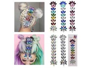 Kosmetika - nalepovací kamínky na vlasy a obličej - kamínky - výprodej skladu
