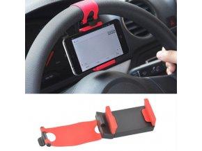 Auto - telefon - mobilní držák na volant auta vhodný na navigaci - držák na mobil - držák na mobil do auta